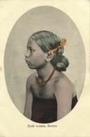 Malay Malaysia, BORNEO SARAWAK, Beautiful Dayak Woman, Jewelry (1910s) Postcard - Malaysia