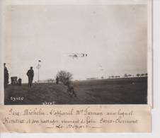 PRIX MICHELIN L'APPAREIL FARMAN RENAUX PARIS CLERMONT LE DEPART   18*13CM Maurice-Louis BRANGER PARÍS (1874-1950) - Aviación