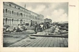 Straits, Malay Malaysia, PENANG, View On Quay & Post Office (1899) Postcard - Malaysia