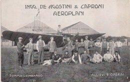 Aviation - Constructeurs Agostini Et Caproni - Instructeur Henri Cobioni - 1911 - Rare - ....-1914: Precursores