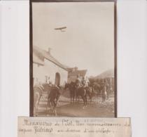 MANOEUVRES DE L'EST UNE RECONNAISSANCE SAPEUR VEDRINES DESSU VILLAGE  18*13CM Maurice-Louis BRANGER PARÍS (1874-1950) - Aviación