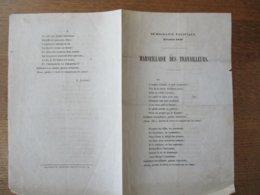 DEMOCRATIE PACIFIQUE FEVRIER 1848 MARSEILLAISE DES TRAVAILLEURS J. JOURNET - Partitions Musicales Anciennes