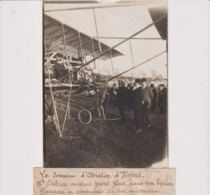 SEMAINE AVIATION D'HYERES DUTRIEU BIPLAN FARMAN ET SON MECANICIEN  18*13CM Maurice-Louis BRANGER PARÍS (1874-1950) - Aviación