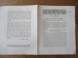 1er JUILLET 1792 L'AN 4e DE LA LIBERTE LOI N° 1829 RELATIVE AUX PONTS ET CHAUSSEES - Décrets & Lois
