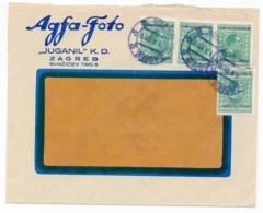 1933 YUGOSLAVIA, CROATIA, ZAGREB, AGFA-FOTO, JUGANIL, LETTERHEAD COVER - Covers & Documents