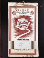 Carte Plan Itinéraire  Federation Internationale De L'automobile Club De France Allemagne 96 Destinations 50' BP - Carte Stradali