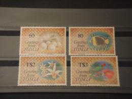 TONGA - 1992 NATALE/FAUNA 4 VALORI -  NUOVI(++) - Tonga (1970-...)