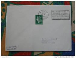Flamme Millau Congrès Employés Municipaux 1974 - Dpt 12 Aveyron - Flamme Sur Lettre Postmark On Cover - Marcophilie (Lettres)