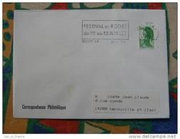Flamme Rodez Festival 1986 - Dpt 12 Aveyron - Flamme Sur Lettre Postmark On Cover - Marcophilie (Lettres)