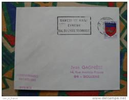 Flamme Evreux Bal Lycée Technique 1969 - Dpt 27 Eure - Flamme Sur Lettre Postmark On Cover - Marcophilie (Lettres)