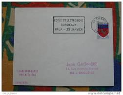 Flamme Talence Gala école électronique 1968 - Dpt 33 Gironde - Flamme Sur Lettre Postmark On Cover - Oblitérations Mécaniques (flammes)