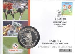 Österreich Numisbrief Europameisterschaft 2008 - Austria