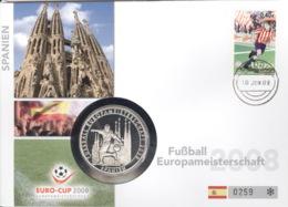 Spanien Numisbrief Europameisterschaft 2008 - Spagna