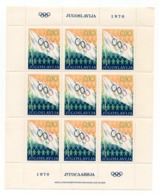 YUGOSLAVIA 1970 OLYMPIC WEEK SHEETLET OF 9 STAMPS - Blocks & Sheetlets