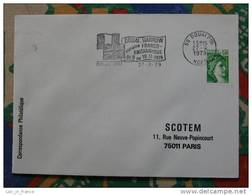 Flamme Douai Semaine Franco Britannique 1979 - Dpt 59 Nord - Flamme Sur Lettre Postmark On Cover - Postmark Collection (Covers)