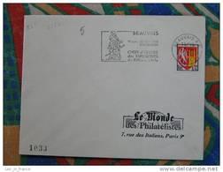 Flamme Beauvais Expo Tapisserie 1965 - Dpt 60 Oise - Flamme Sur Lettre Postmark On Cover - Oblitérations Mécaniques (flammes)