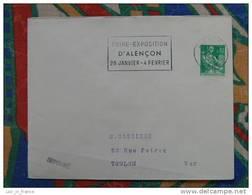 Flamme Alençon Foire Expo 1962 - Dpt 61 Orne - Flamme Sur Lettre Postmark On Cover - Oblitérations Mécaniques (flammes)