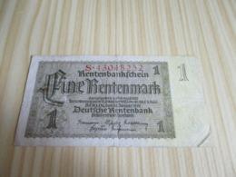 Allemagne.Billet 1 Rentenmark 30/01/1937. - Other