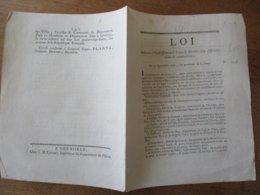 17 SEPTEMBRE 1792 LOI RELATIVE A L'ETABLISSEMENT DE FOIRES & MARCHES DANS DIFFERENTES VILLES ET COMMUNAUTES - Décrets & Lois