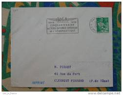 Flamme Paris 118 Ecole Sup Aéronautique 1959 - Flamme Sur Lettre Postmark On Cover - Mechanische Stempels (reclame)