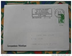 Flamme Sainte Clothilde 40ème Anniv Départementalisation - Dpt 974 Réunion - Flamme Sur Lettre Postmark On Cover - Oblitérations Mécaniques (flammes)
