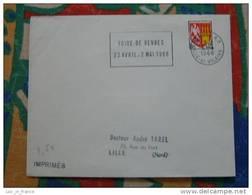 Flamme Rennes RP Foire 1966 - Dpt 35 Ille Et Vilaine - Flamme Sur Lettre Postmark On Cover - Marcophilie (Lettres)