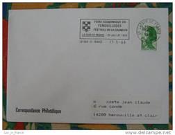 Flamme La Tour De France Festival De La Chanson 1986 - Dpt 66 Pyrénées Orientales - Flamme Sur Lettre Postmark On Cover - Marcophilie (Lettres)