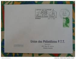 Flamme Sevrier Corso Illuminé 1986 - Dpt 74 Haute Savoie - Flamme Sur Lettre Postmark On Cover - Oblitérations Mécaniques (flammes)