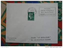 Flamme Nevers Congrès Magistrats 1971 Justice - Dpt 58 Nièvre - Flamme Sur Lettre Postmark On Cover - Oblitérations Mécaniques (flammes)