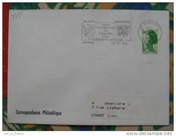 Flamme Morangis Jumelage 1986 - Dpt 91 Essonne - Flamme Sur Lettre Postmark On Cover - Marcophilie (Lettres)