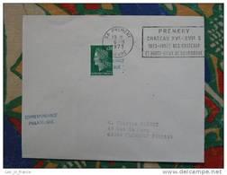 Flamme Premery Année Des Chateaux 1973 - Dpt 58 Nièvre - Flamme Sur Lettre Postmark On Cover - Oblitérations Mécaniques (flammes)