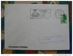 Flamme Rodez Fête Médiévale 1987 - Dpt 12 Aveyron - Flamme Sur Lettre Postmark On Cover - Marcophilie (Lettres)