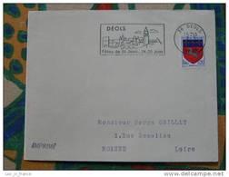 Flamme Déols Fêtes De La St Jean 1967 - Dpt 36 Indre - Flamme Sur Lettre Postmark On Cover - Marcophilie (Lettres)