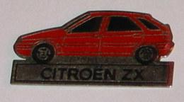 Pin's VOITURE 693 CITROEN ZX ROUGE - Citroën