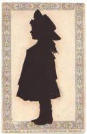 N°13261 - Silhouette D'une Fillette - H. Nolden N.C. Clausen Copenhague - Silhouette - Scissor-type