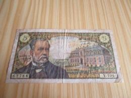 France.Billet 5 Francs Pasteur 05/06/1969. - 5 F 1966-1970 ''Pasteur''
