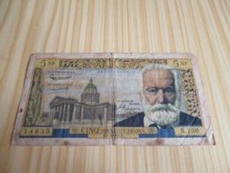 France.Billet 5 Francs Victor Hugo 04/02/1965. - 1959-1966 ''Nouveaux Francs''