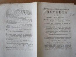 7 & 9 AOÛT 1793 DECRETS DE LA CONVENTION NATIONALE QUI ORDONNE LA RECHERCHE DES AUTEURS DE L'INCENDIE DE L'ARSENAL D'HUN - Décrets & Lois