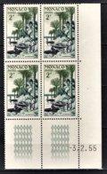 MONACO 1955 - BLOC DE 4 TP / N° 412 - NEUFS ** / COIN DE FEUILLE / DATE - Monaco