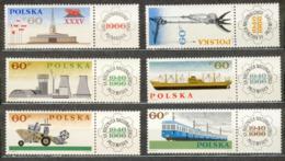 POLAND MNH  ** 1516-1521 NATIONALISATION DES INDUSTRIES, Train, Bateau, Cargo Chemin De Fer Foire De Poznan - 1944-.... Republik