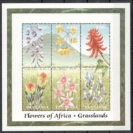 Tanzania, 2000. [tan0029] Flowers (s/s) - Plants