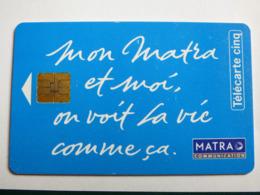 """Télécarte 5 Unités GN 2 """"Matra Communication"""" 06/93 - Neuve Sans Blister - 5 Unidades"""