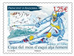French Andorra 2016 -  Coupe Du Monde Féminine De Ski Alpin Mnh - Andorra Francesa