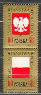 POLAND MNH ** 1539-1540 AIGLE ET DRAPEAU - 1944-.... Republik