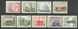 POLAND MNH ** 1555-1563 TOURISME, LAC DE MAZURIE PONT PONIATOWSKI. PAQUEBOT BATORY Arbres - 1944-.... République