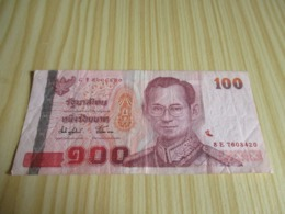 Thaïlande.Billet 100 Baht. - Tailandia