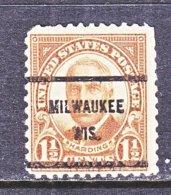U.S. 684   Perf. 11 X 10 1/2    *  WIS.    1930  Issue - Precancels