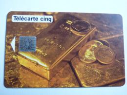 """Télécarte 5 Unités GN 65 """"Lingots D'Or"""" 06/94 - S05 - JG - TBE - Frankrijk"""