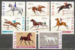 POLAND MNH ** 1590-1597 CHEVAL CHEVAUX HORSE HORSES - 1944-.... Republic