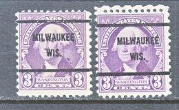 U.S. 720   Perf. 11 X 10 1/2    (o)  WIS.    1932  Issue - Precancels